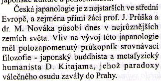 note about Kitayamas impact to evolution of czechoslovak japanology